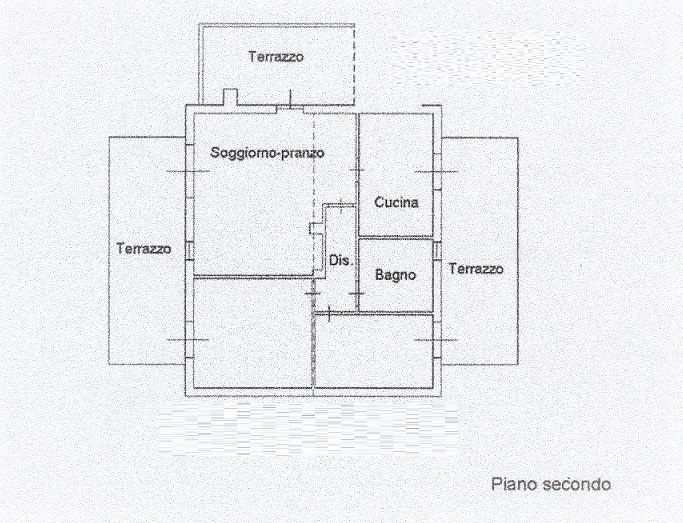 Planimetria 1/3 per rif. 3573