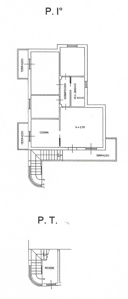 Planimetria 1/2 per rif. 3516