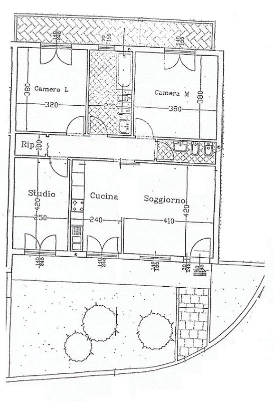 Planimetria 1/1 per rif. 3545