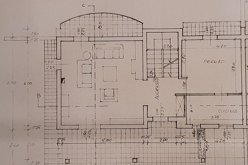 Planimetria 1/3 per rif. 3552