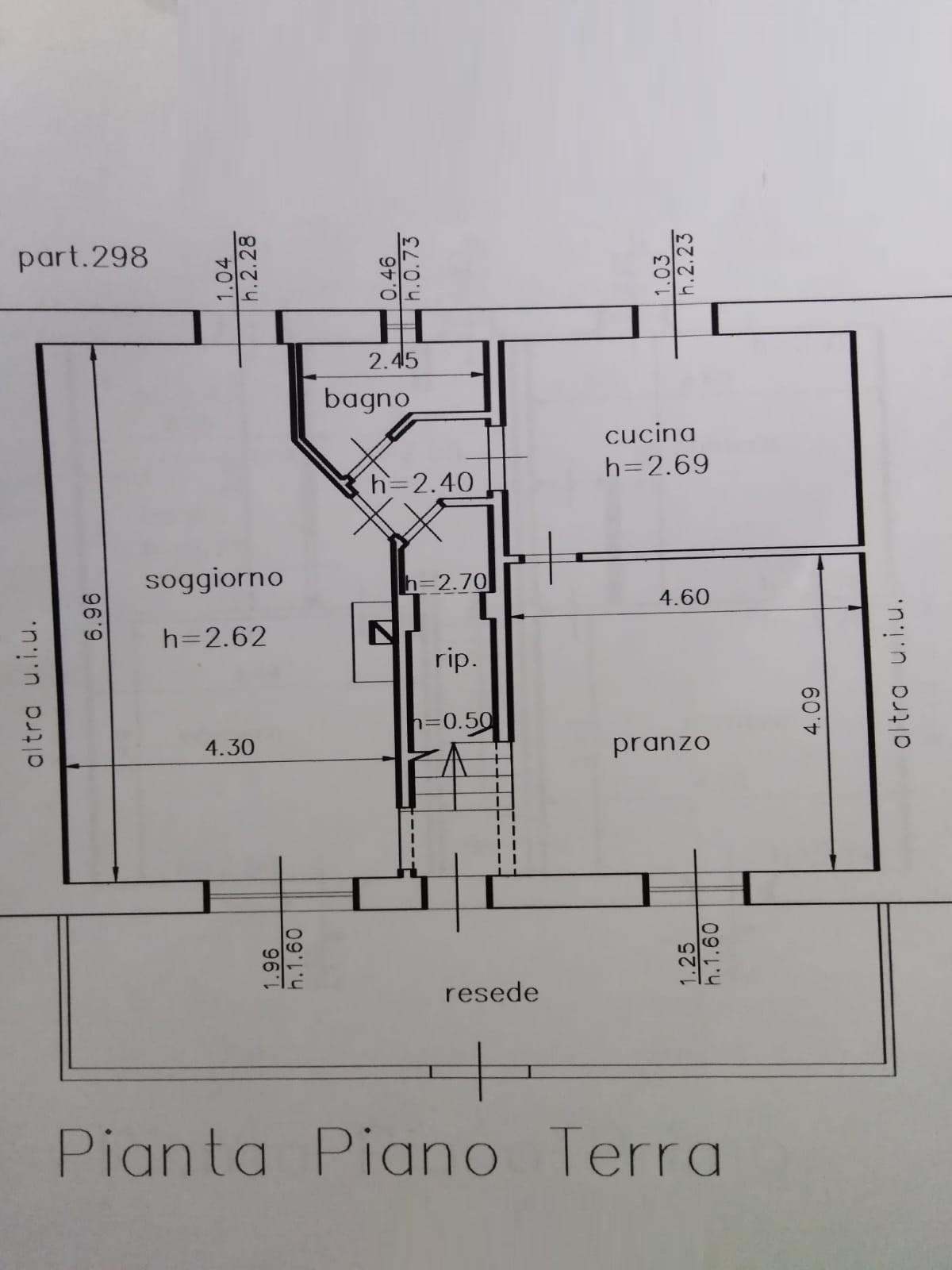 Planimetria 1/2 per rif. 3554