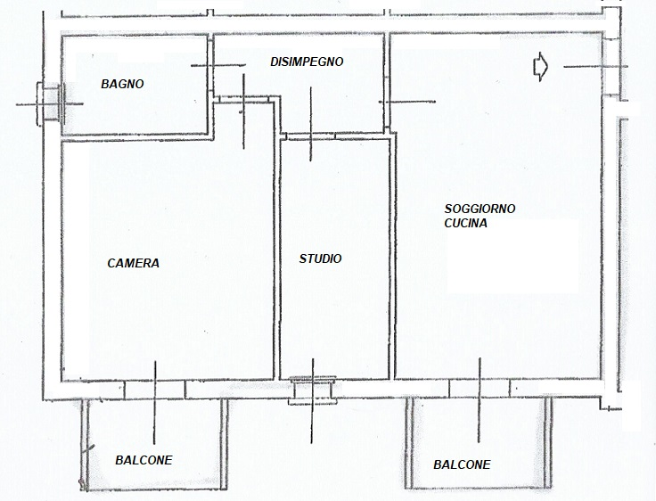 Planimetria 1/1 per rif. TM3556