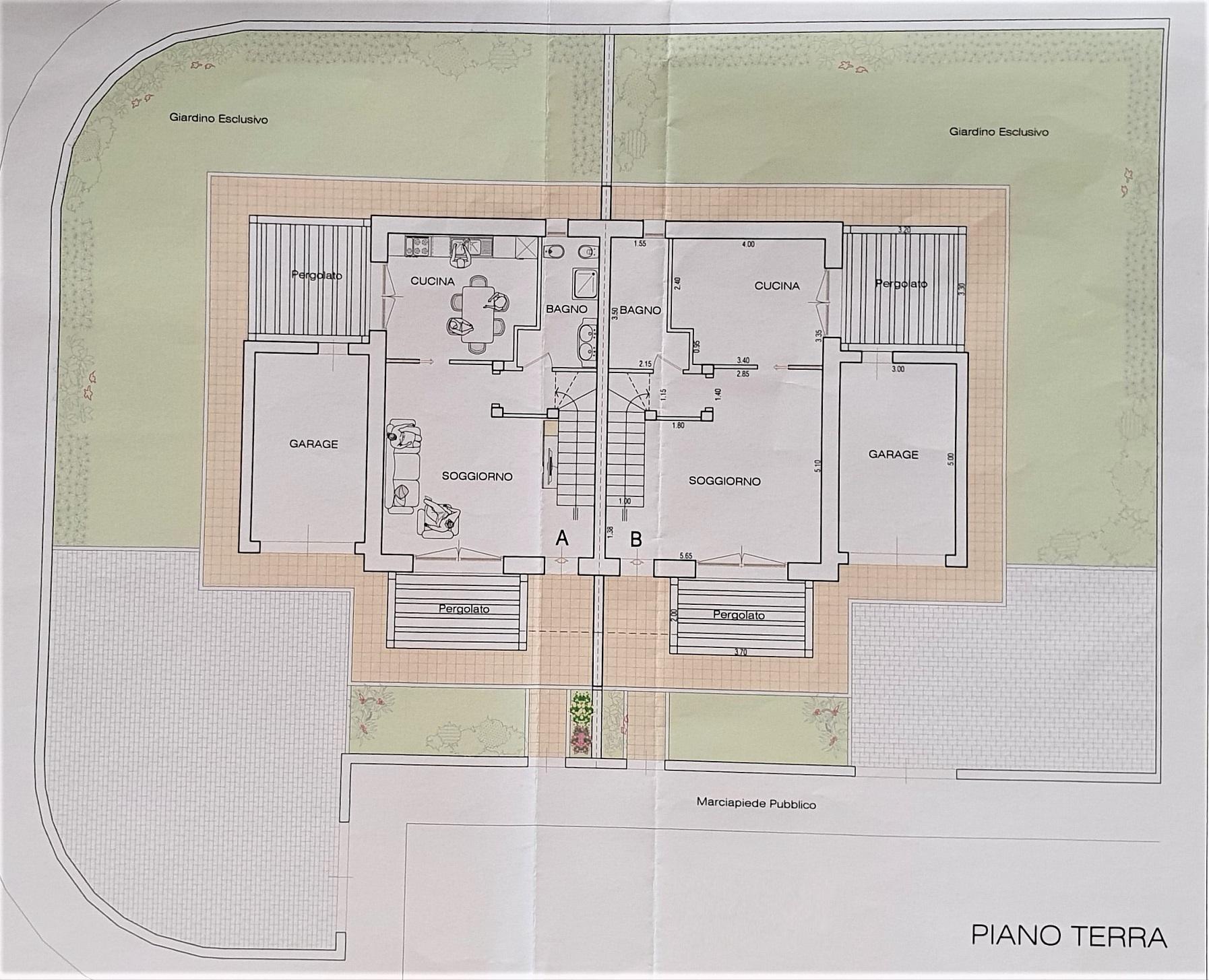 Planimetria 1/2 per rif. 3565