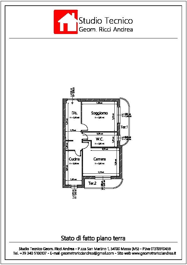 Planimetria 1/2 per rif. 539