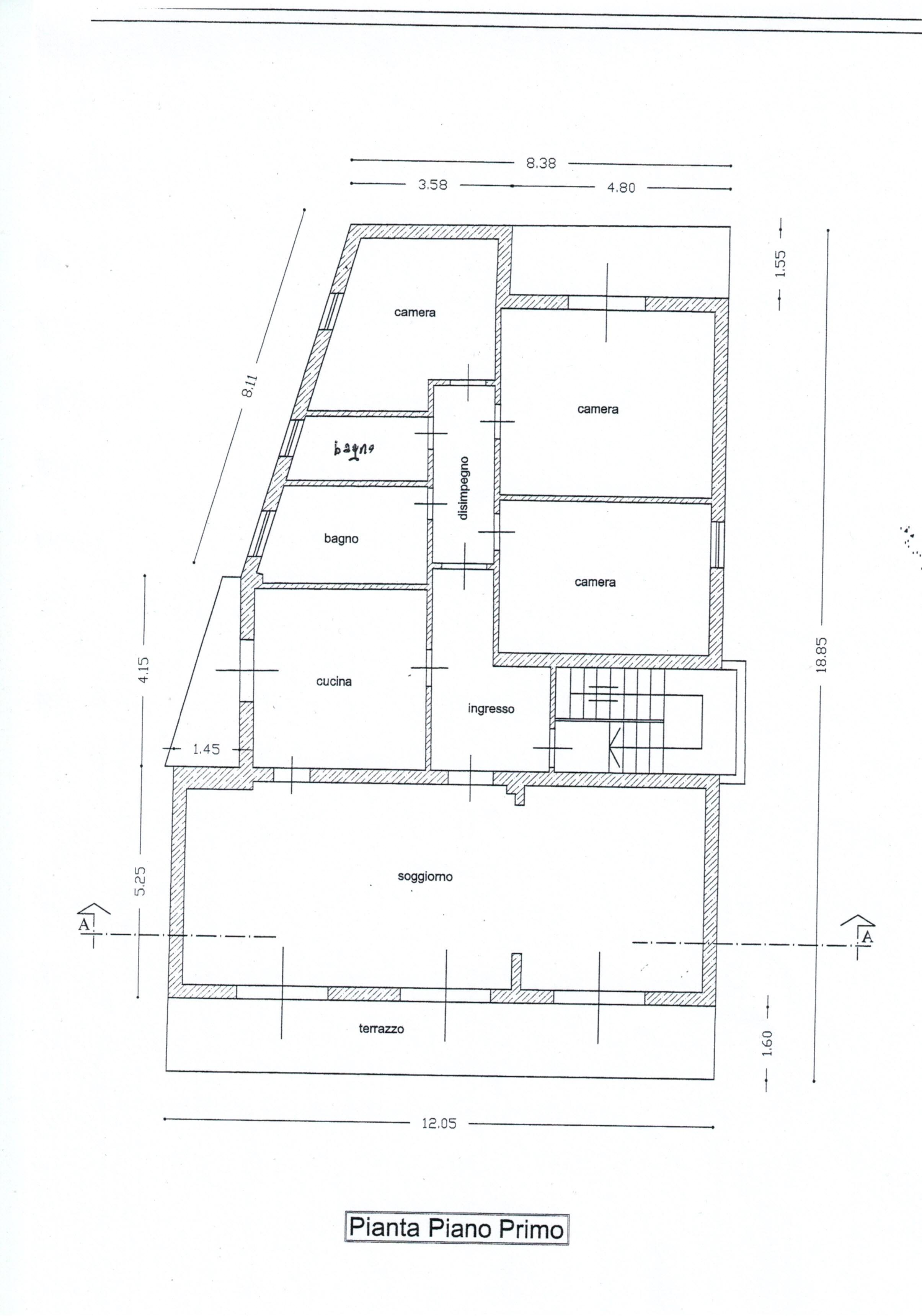 Planimetria 1/1 per rif. 18.45