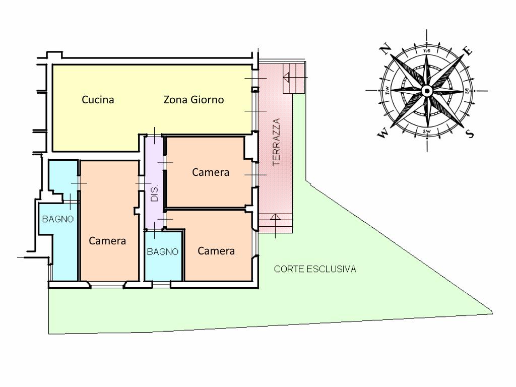 Planimetria 1/1 per rif. 555
