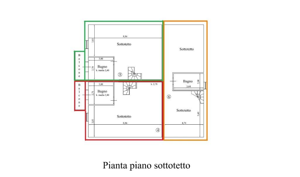 Planimetria 1/3 per rif. 17.42
