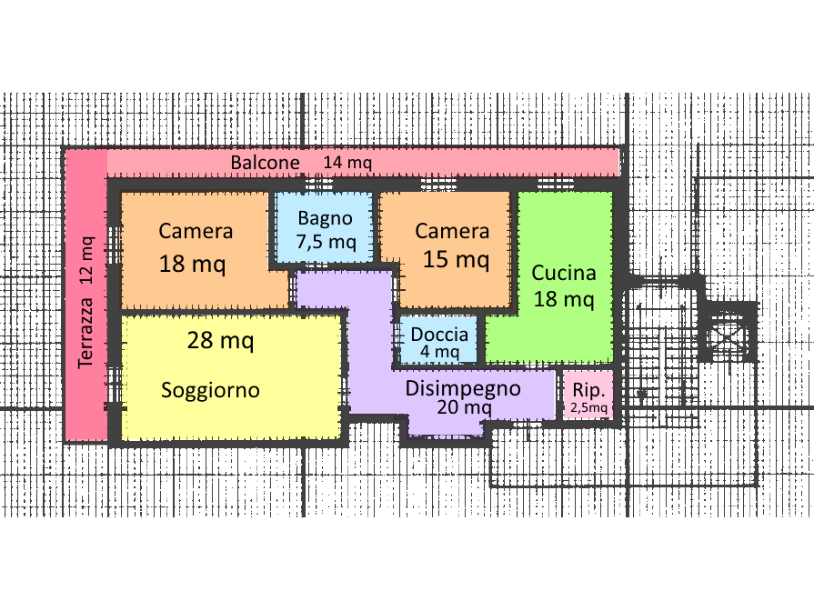 Planimetria 1/1 per rif. VVR111
