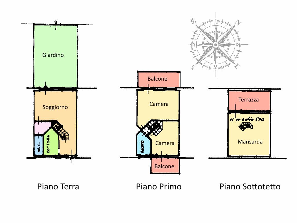 Planimetria 1/1 per rif. RE608