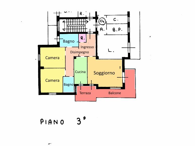 Planimetria 1/1 per rif. 18.37