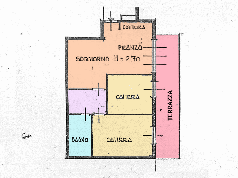 Planimetria 1/1 per rif. RE22