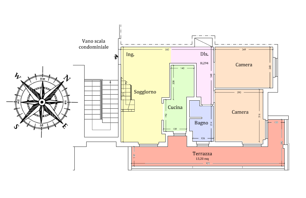 Planimetria 1/2 per rif. 18.65