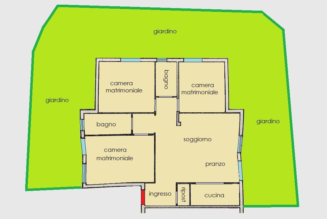 Planimetria 1/1 per rif. R161