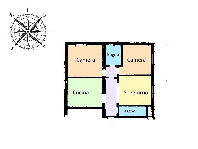 Planimetria 1/1 per rif. STE-002
