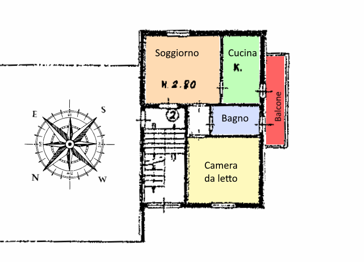 Planimetria 1/1 per rif. 20.25