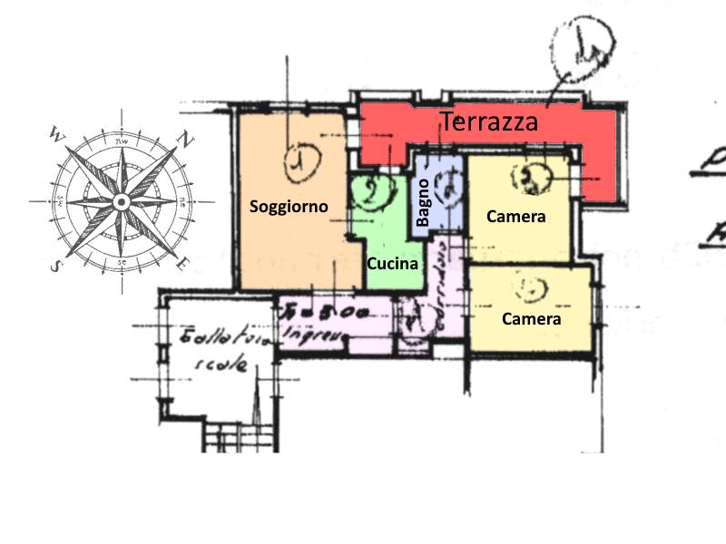 Appartamento in vendita, rif. 467 (Planimetria 1/1)