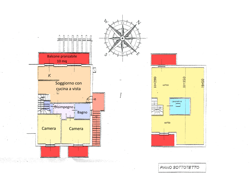 Planimetria 2/2 per rif. MLS-297