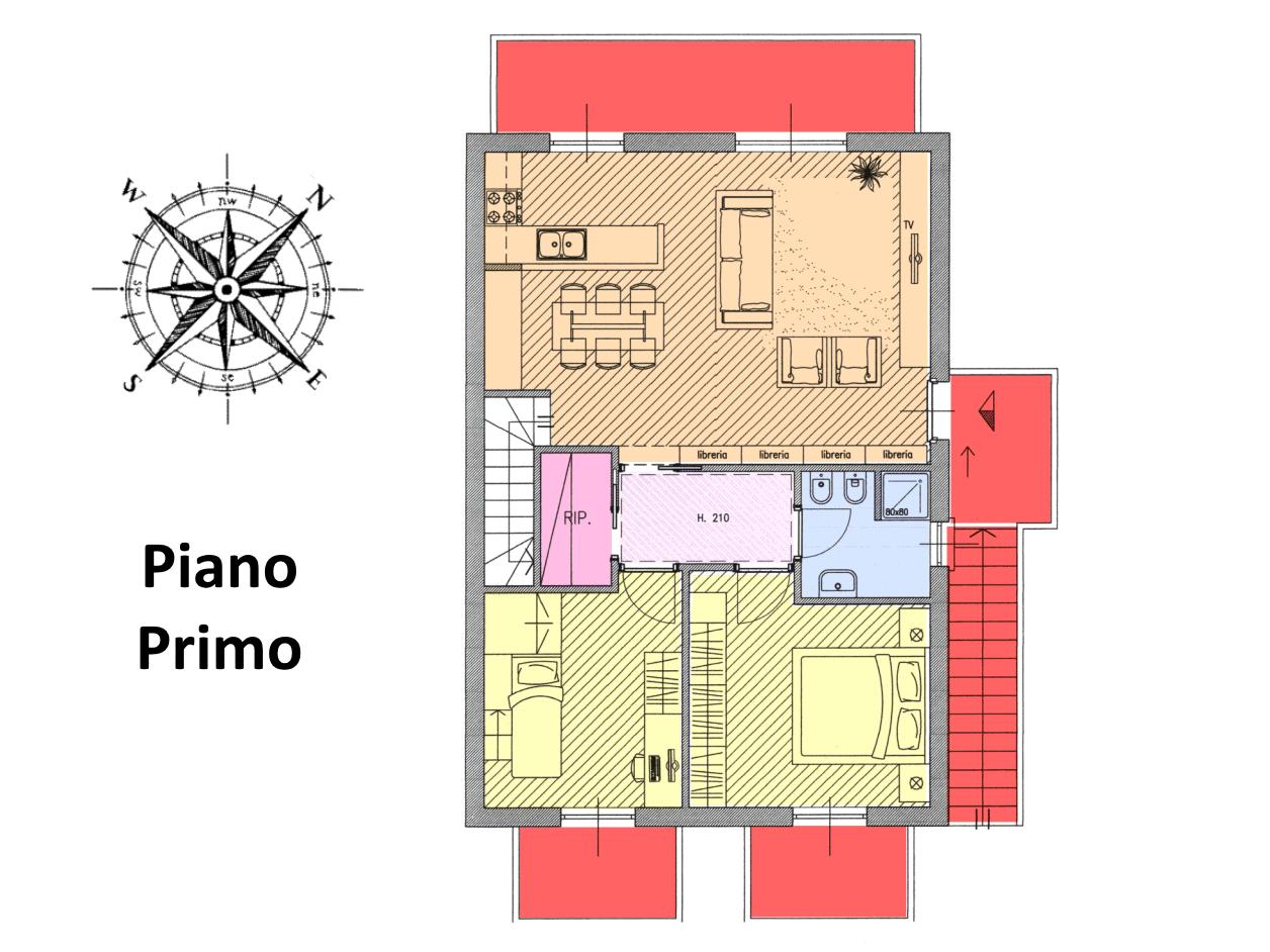 Planimetria 1/2 per rif. MLS-297
