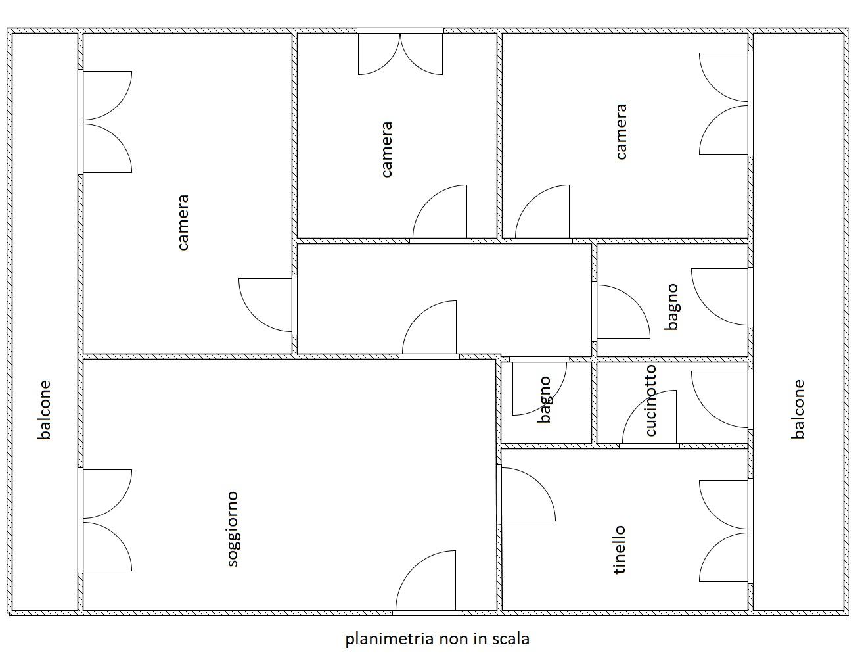Planimetria 1/1 per rif. MQ-1A1537