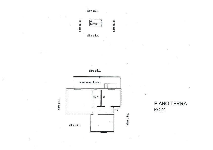 Planimetria 1/1 per rif. MQ-2709