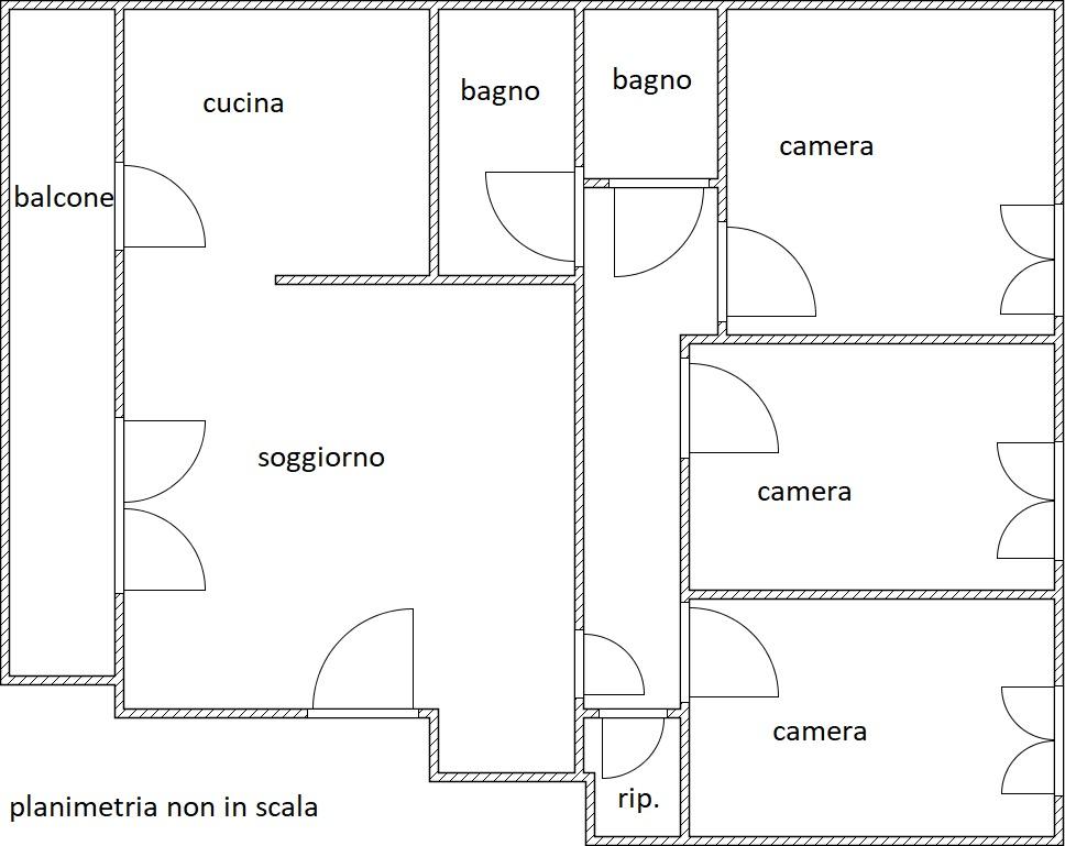 Planimetria 1/1 per rif. MQ-2716