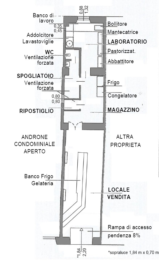 Planimetria 1/1 per rif. MQ-1F1038