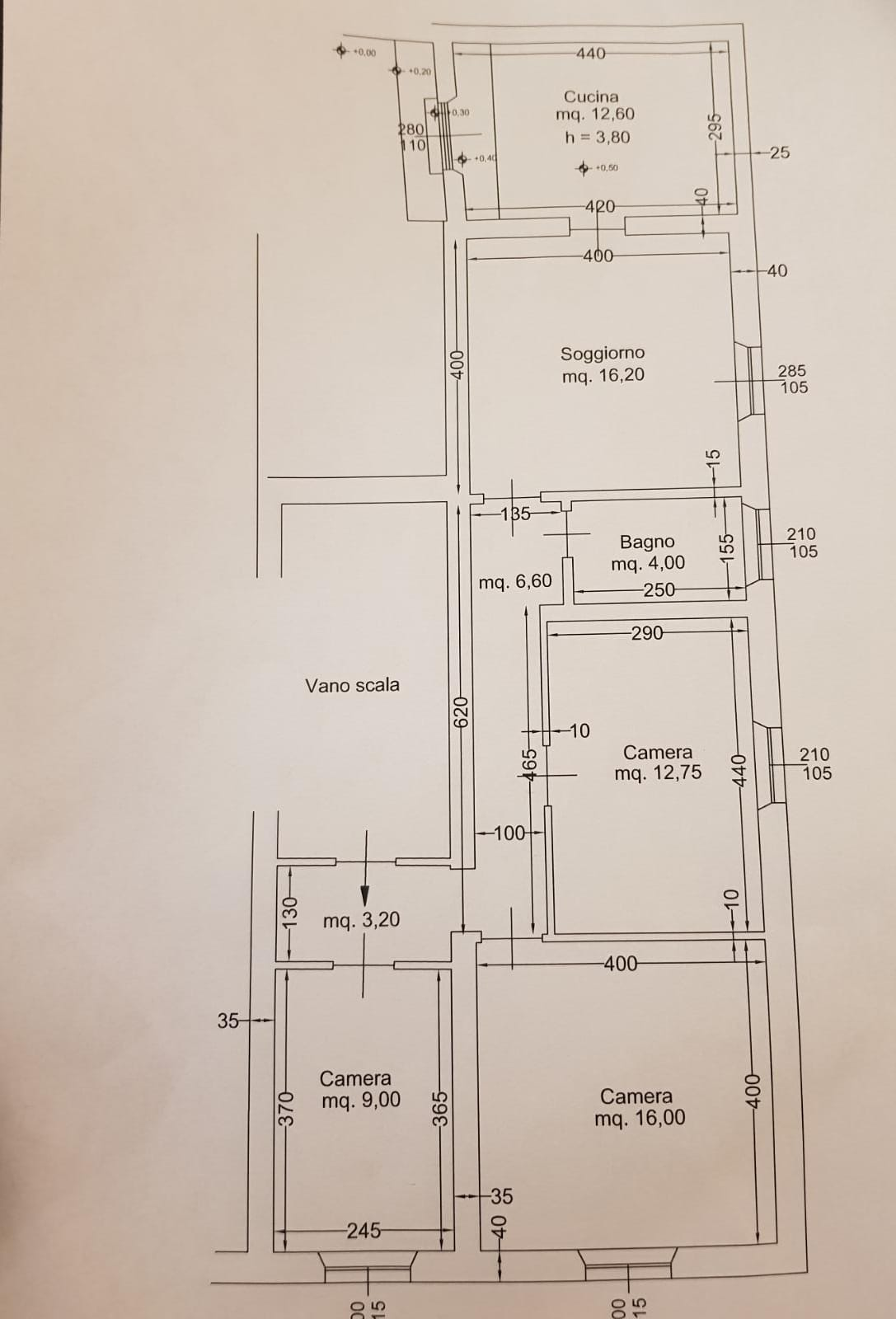 Planimetria 1/1 per rif. MQ-2773