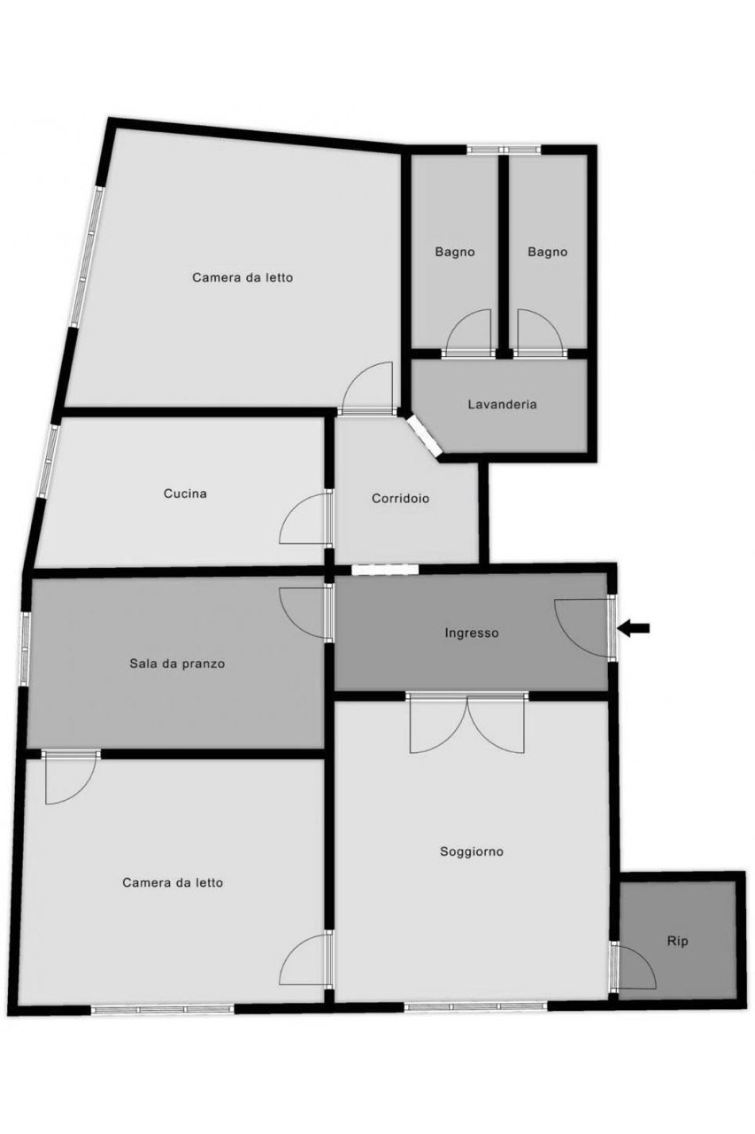 Planimetria 1/1 per rif. MQ-2918
