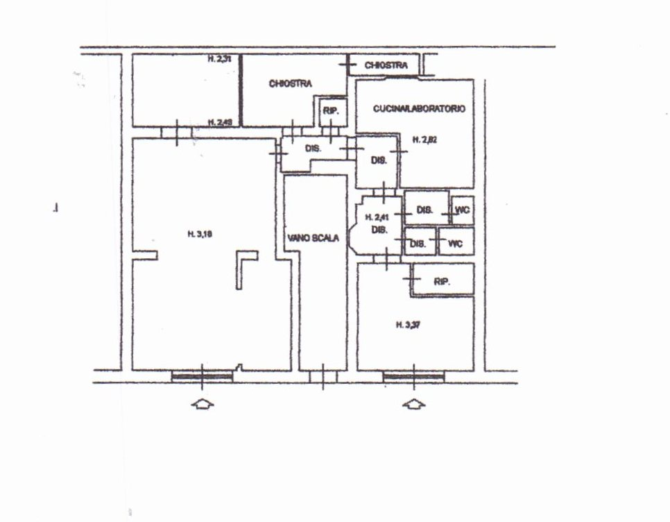 Planimetria /1 per rif. 738