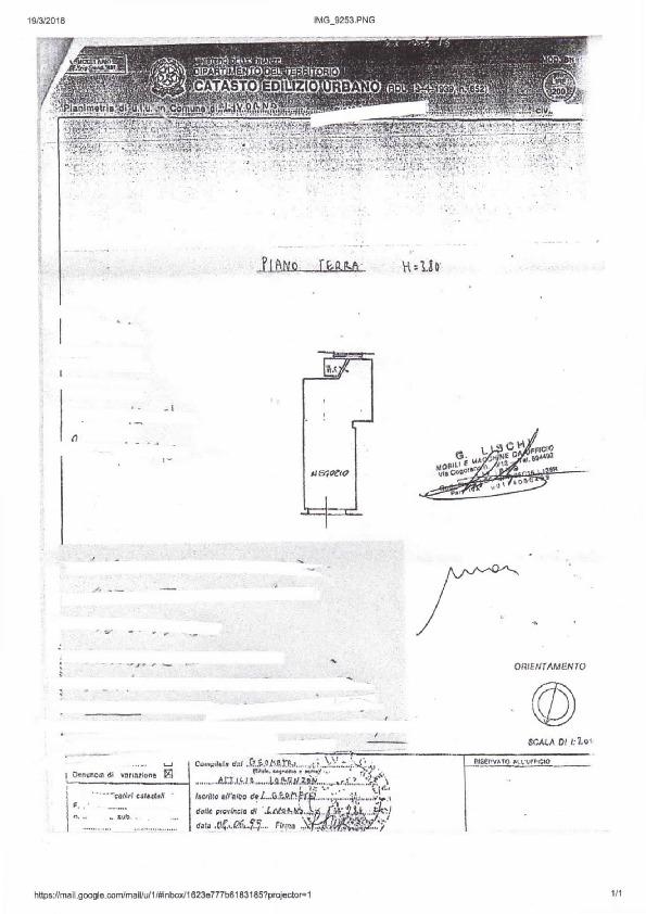 Planimetria /1 per rif. 823