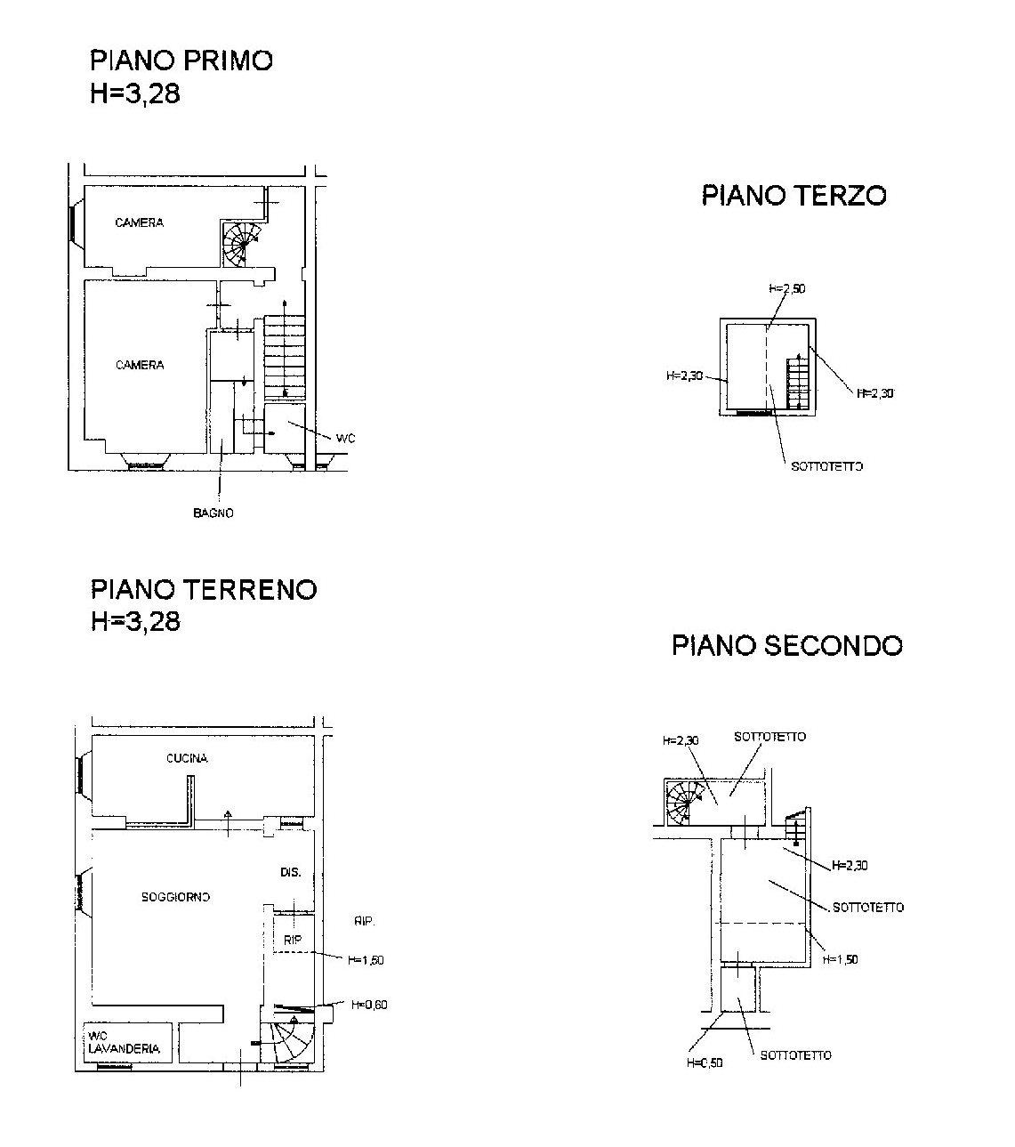 Planimetria /1 per rif. 1055