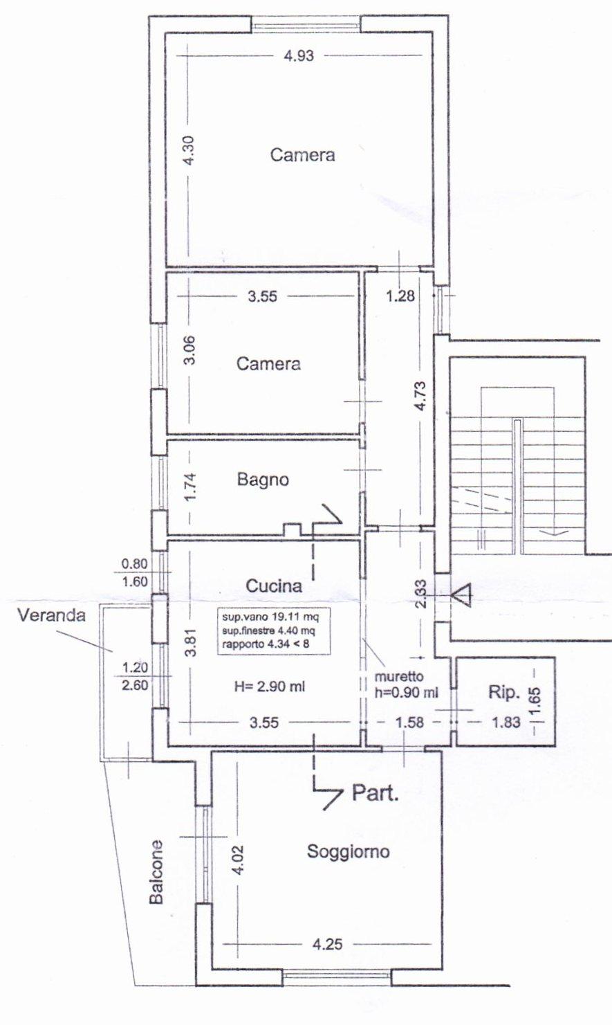 Planimetria /1 per rif. 1068