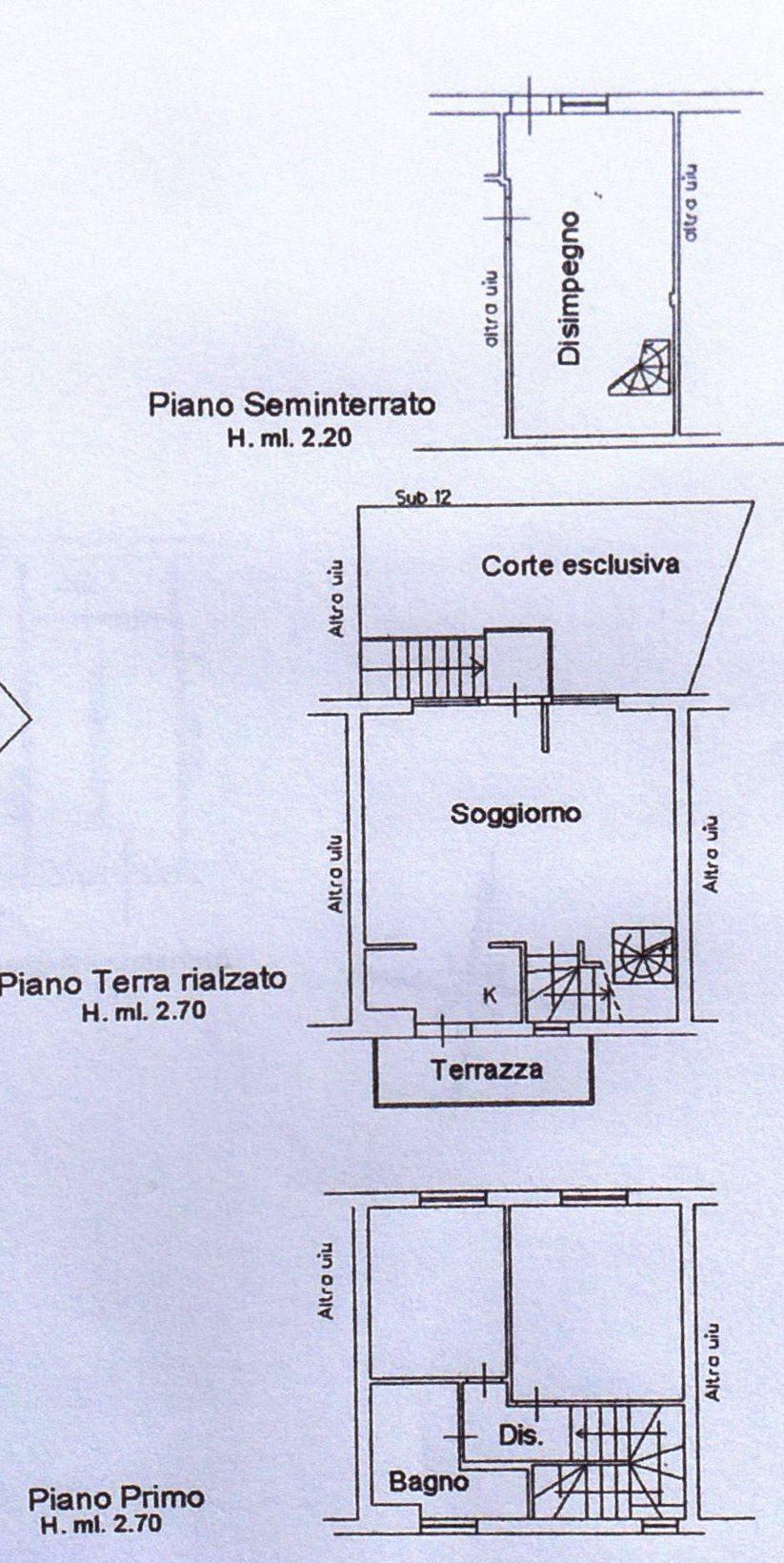Planimetria /1 per rif. 1166