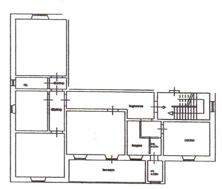 Planimetria /1 per rif. 1167