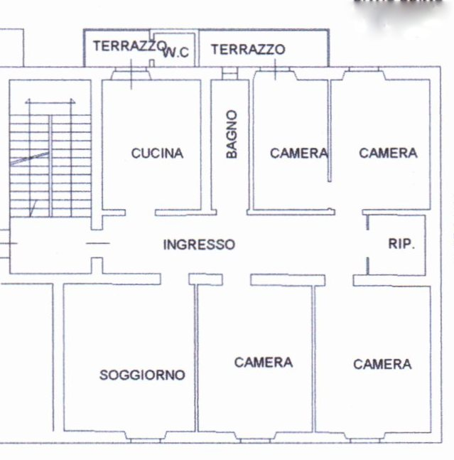 Planimetria /1 per rif. 1207