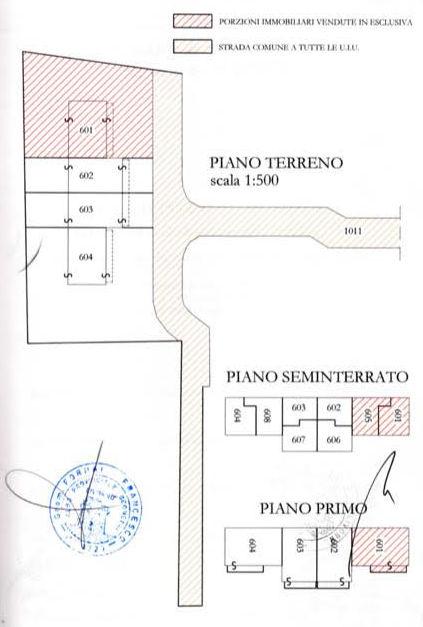 Planimetria 1/3 per rif. 1296