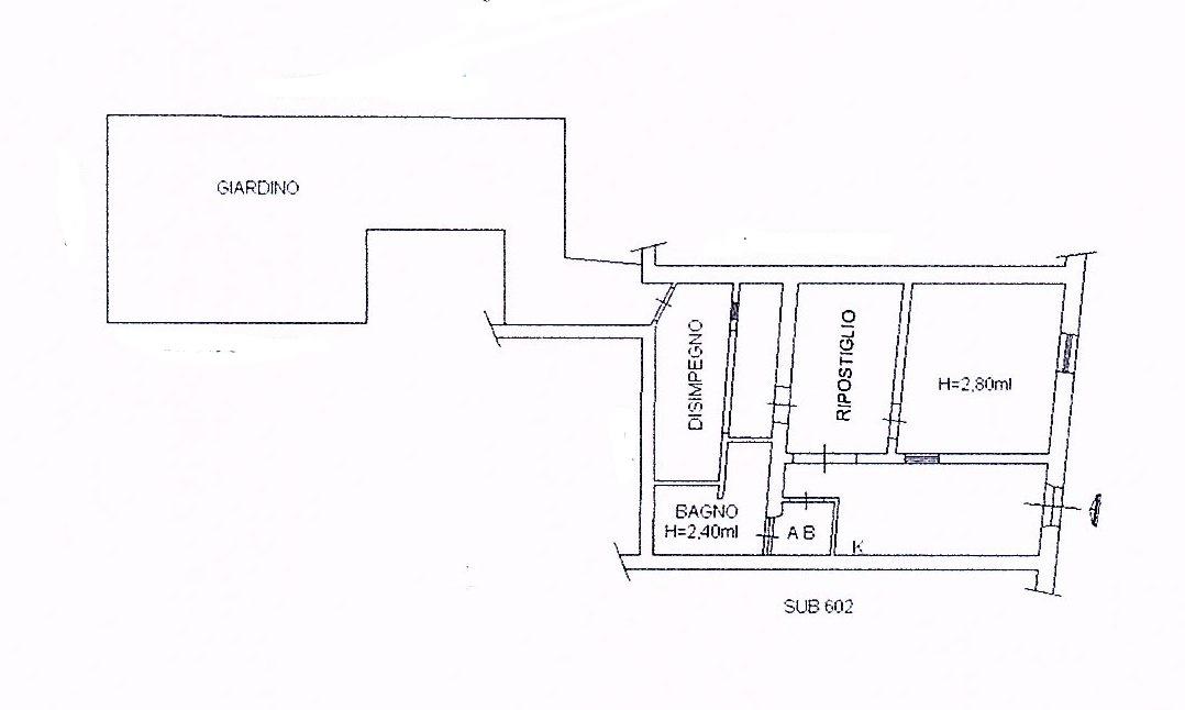 Planimetria /1 per rif. 1287