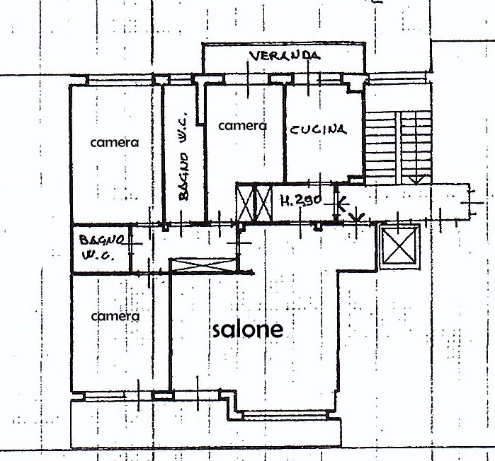 Planimetria 1/1 per rif. 1274