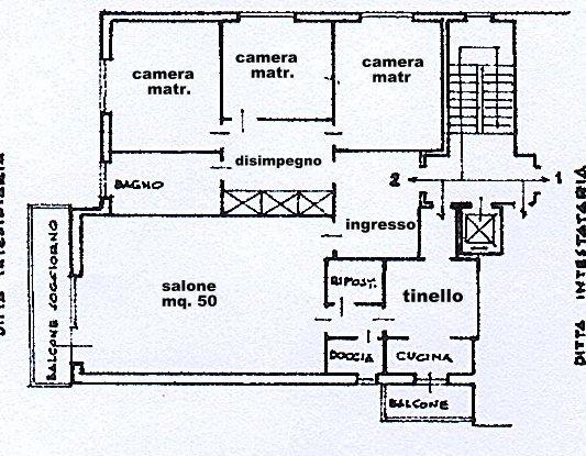 Planimetria 1/1 per rif. 1425