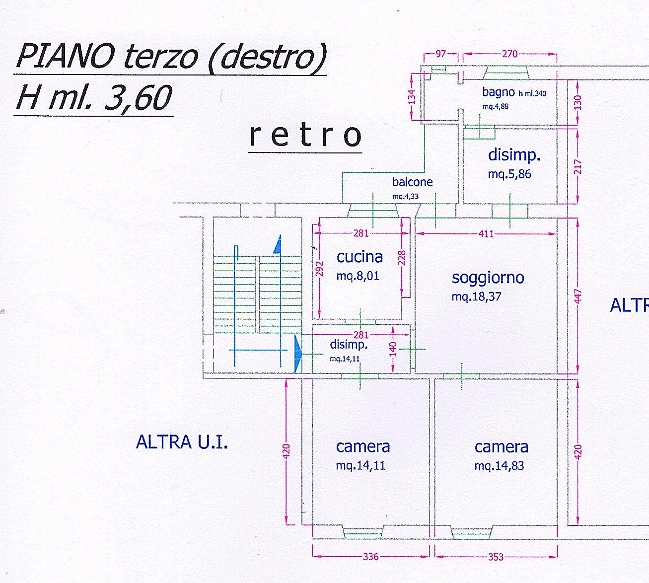 Planimetria 1/1 per rif. 1457