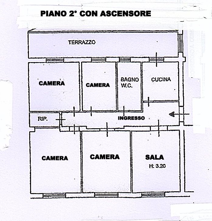 Planimetria 1/1 per rif. 1490