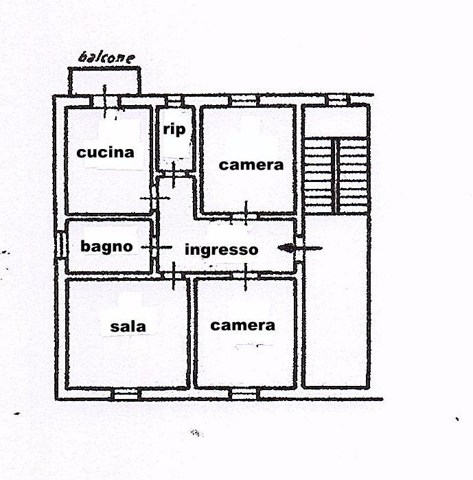 Planimetria 1/1 per rif. 1494
