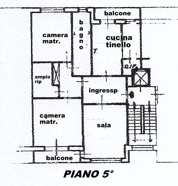 Planimetria 1/1 per rif. 1519