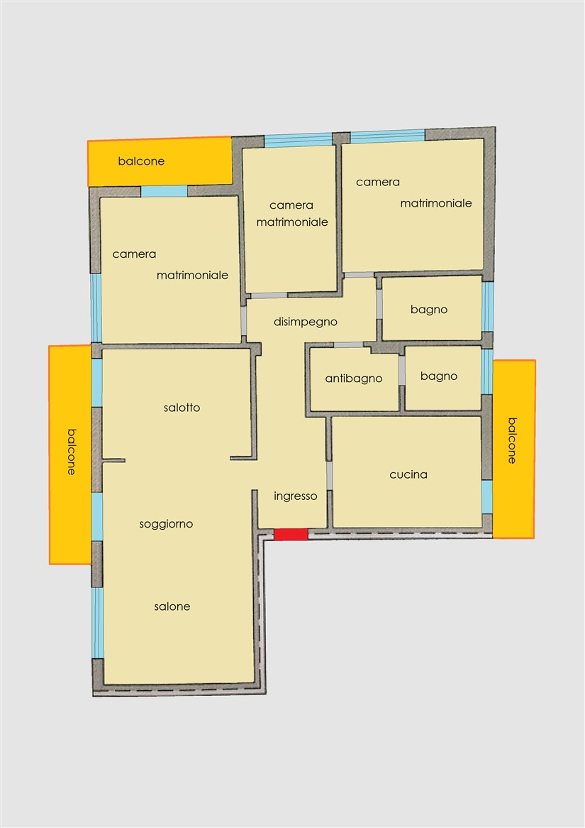 Planimetria 1/1 per rif. 234