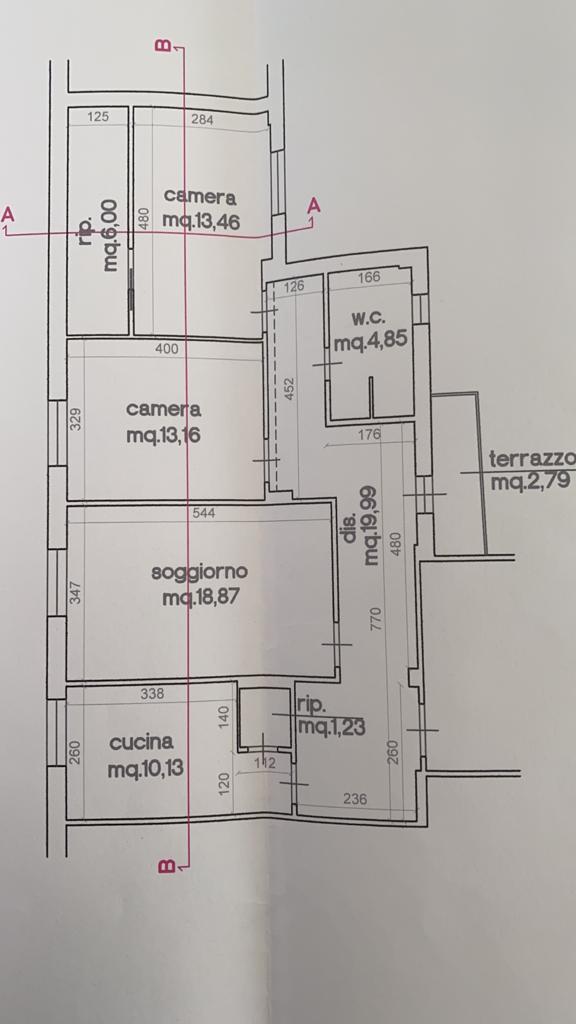 Planimetria 1/1 per rif. 552