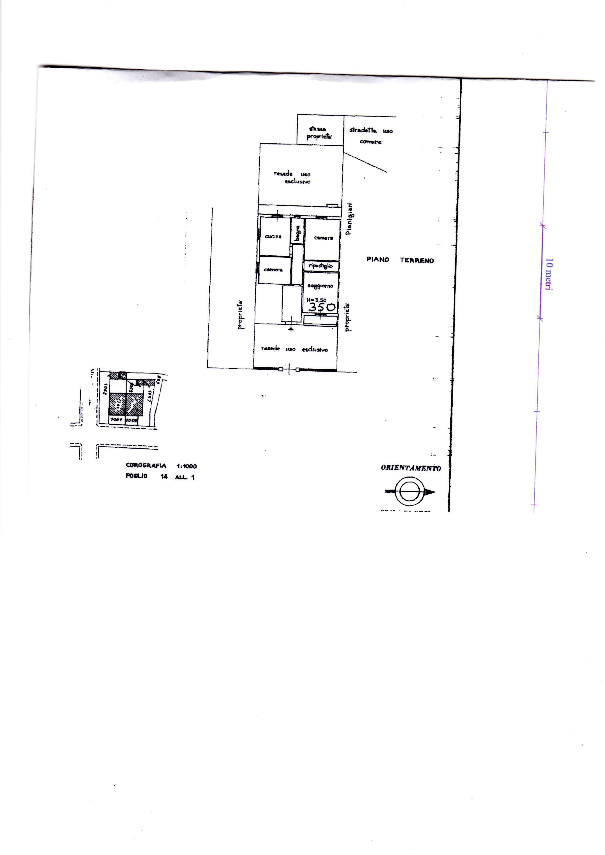 Planimetria 1/1 per rif. AE94