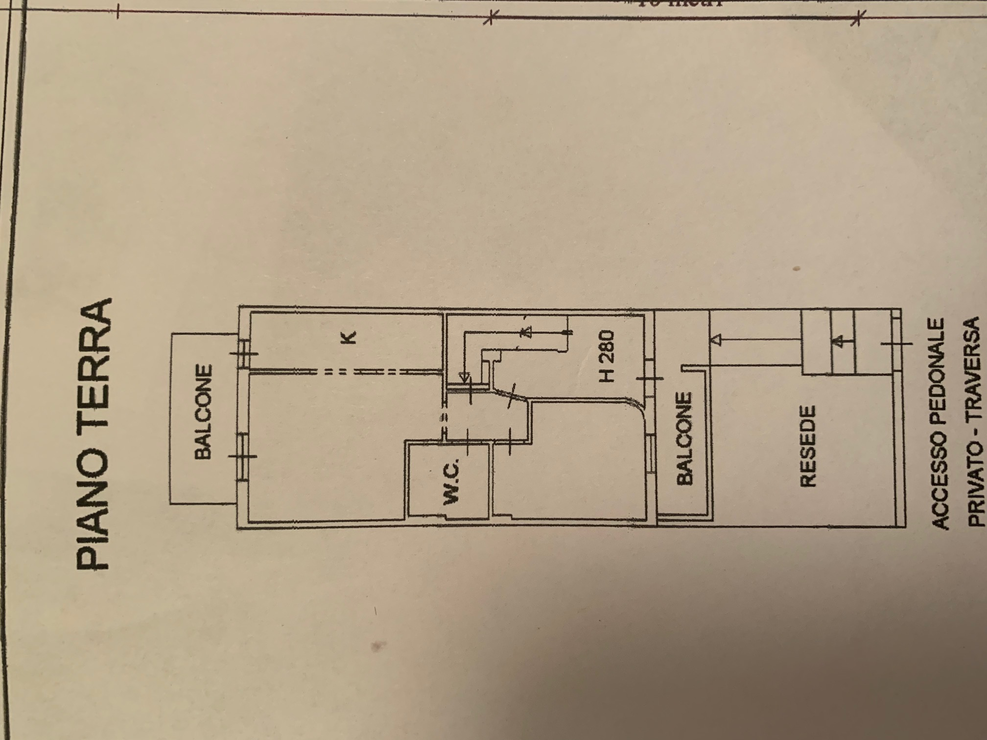 Planimetria 1/4 per rif. TT267