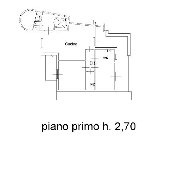 Planimetria 1/2 per rif. AE318