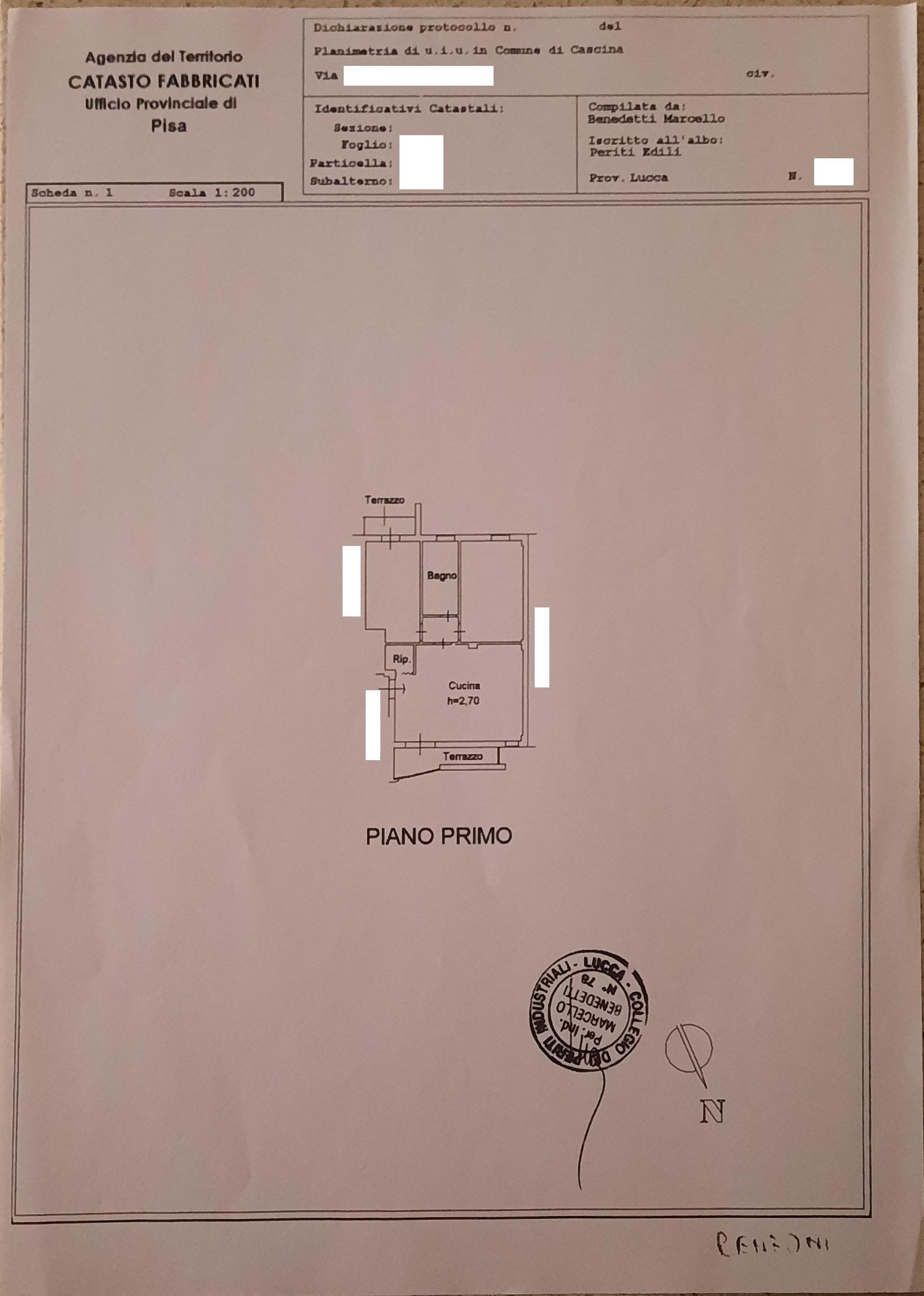 Appartamento in vendita, rif. AC350164 (Planimetria 1/2)