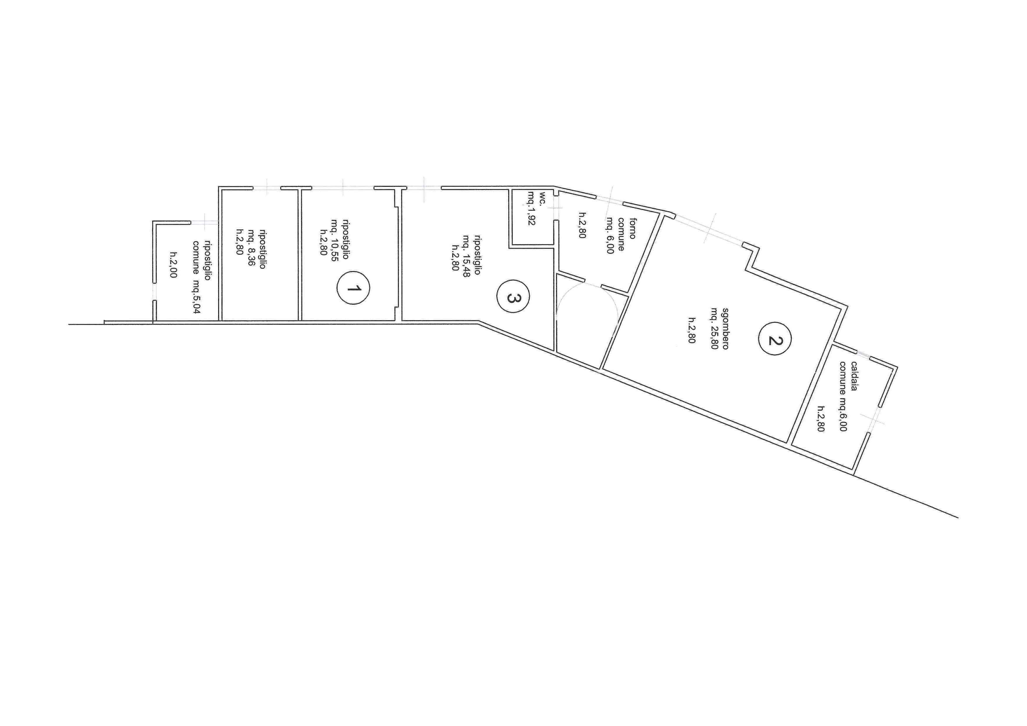 Planimetria 2/4 per rif. 3124